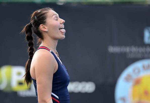 Jaksic has a big personality and isn't afraid to let loose on the court. Photo: Christopher Levy