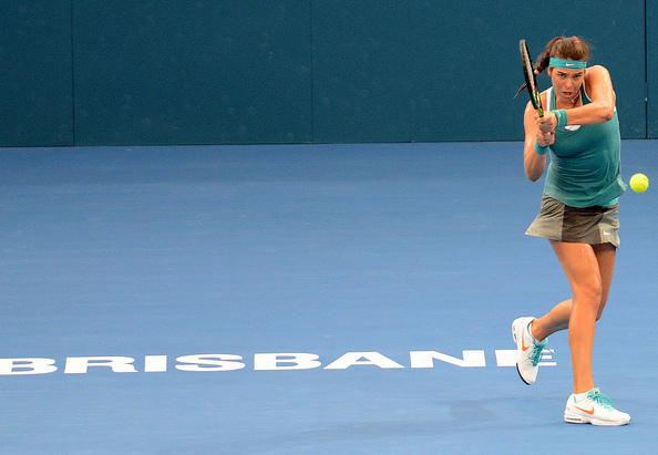 Ajla Tomljanovic in action in Brisbane. Photo: Christopher Levy