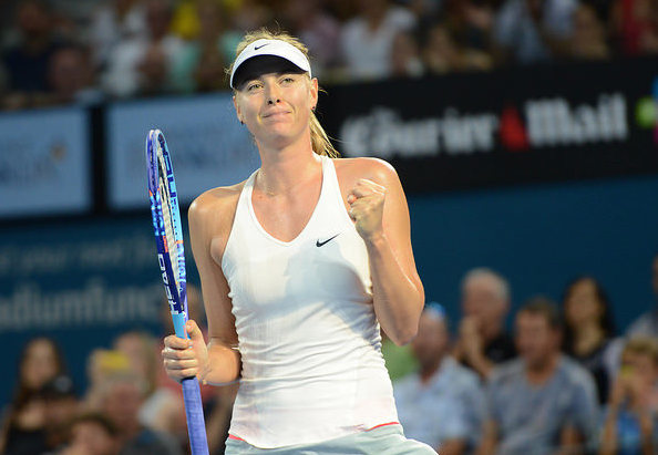 Maria Sharapova has been all business in Brisbane. Photo: Christopher Levy.