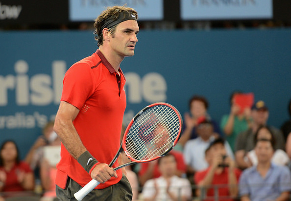 Federer comes into the Brisbane final as the favorite. Photo: Christopher Levy