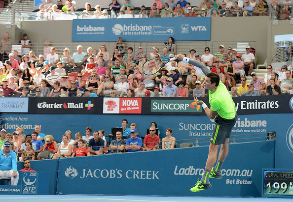 Despite a big push, it wasn't enough for Raonic. Photo: Christopher Levy