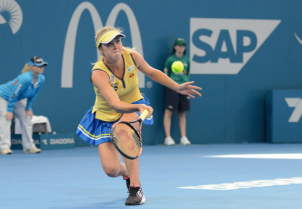 Elina Svitolina came back from the brink in Brisbane. Photo: Christopher Levy