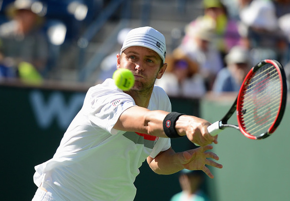 Mardy Fish turned heads and warmed hearts in his comeback at Indian Wells. Photo: Christopher Levy