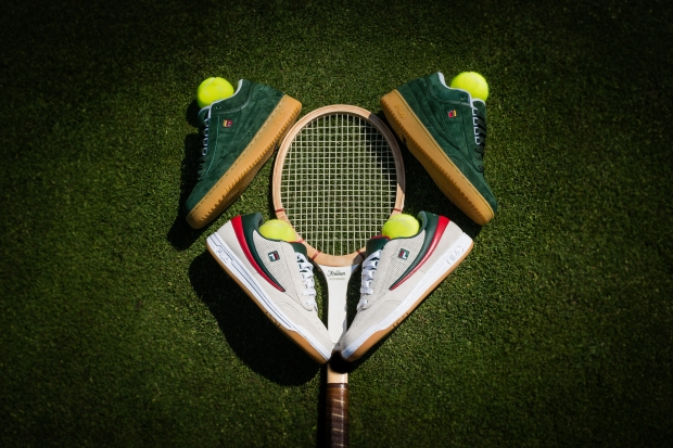 The FILA x Packer x ITHF Pack features two FILA Classic Tennis models, each retailing for $110