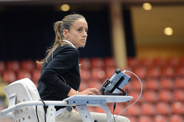 Marijana Veljovic has quickly risen up the umpiring ladder. Photo: Christopher Levy.